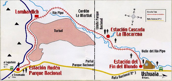 The End of the World Train, Ushuaia, Tierra del Fuego ...